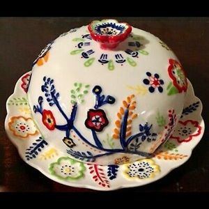 Anthropologie rare butter or cheese dish plate
